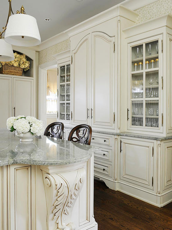 Kitchens with Furniture-Style Cabinets