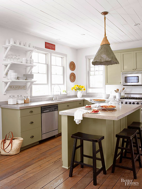 Muted Colors for Farmhouse Kitchen