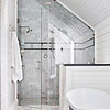 Shower with Sloped Ceiling