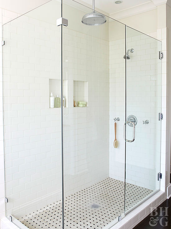 Frameless Shower Enclosure. A Mortared Shower Pan Allows You To ...