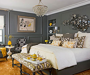 Gray Bedroom Color Schemes Entrancing Gray Bedroom Ideas Decorating Inspiration