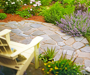 Incorporate A Hard Surface Floor Into A Garden Area To Make An Instant  Room. Flooring Gives Furniture Firm Footing As Well. With A Seating  Ensemble In Place ...