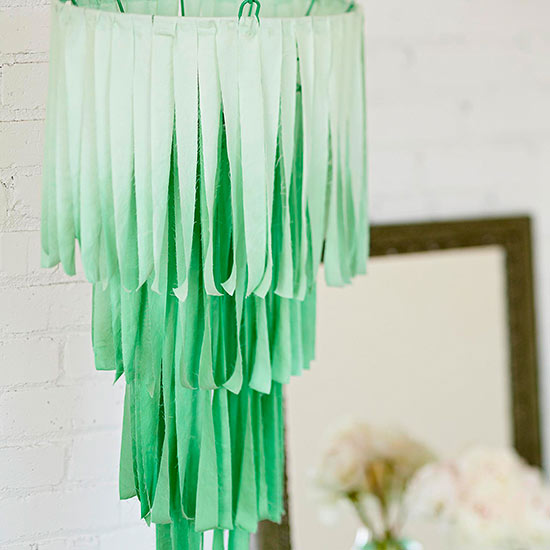 Flowing Fabric Chandelier