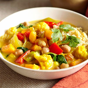 New Delhi Vegetable Curry with Whole Wheat Couscous
