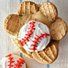 Baseball Glove Cupcakes