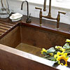 Farmhouse Sink and Grooved Countertop