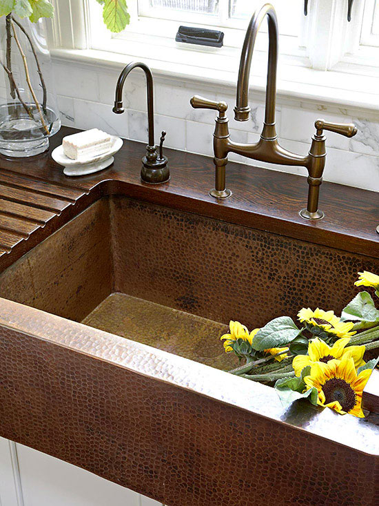 hammered kitchen sink farmhouse style