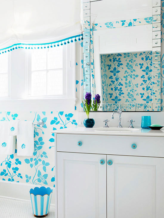 Choose Your Mood. Small Bathroom Color Ideas