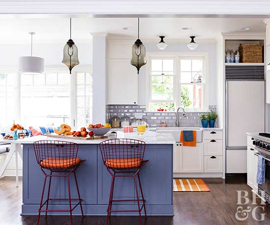 No fail kitchen color combinations for White kitchen colour schemes