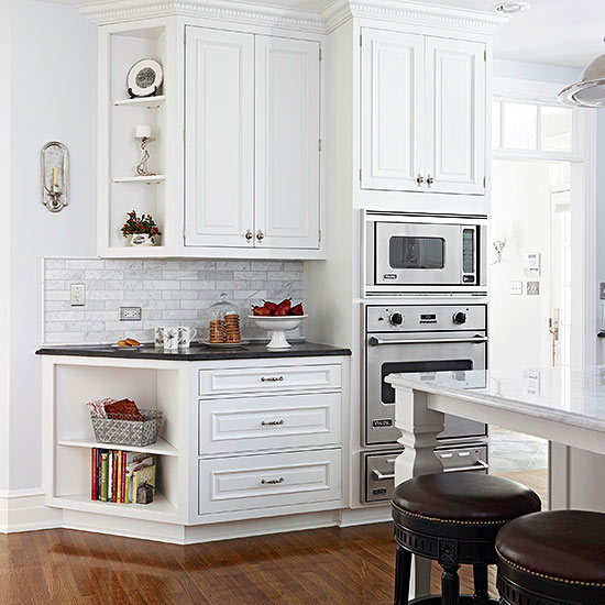 Leading lines for Kitchen cabinet lines