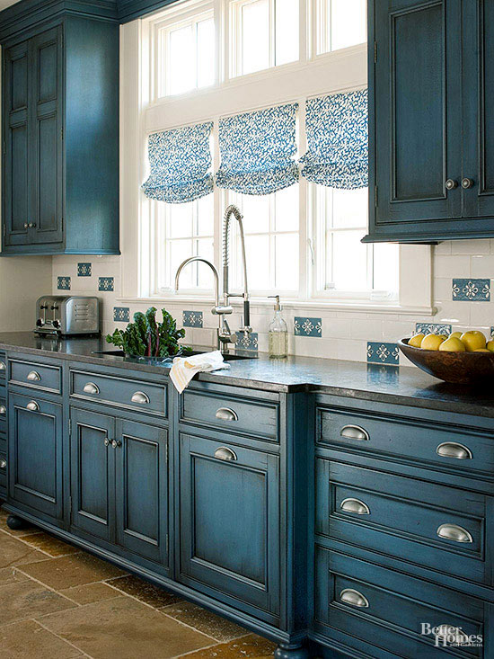 Bhg Kitchen Design Style and blue