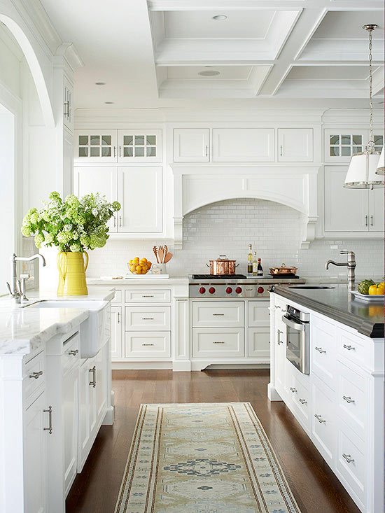 white kitchen decor ideas gorgeous white kitchen makeovers and great tips and ideas of how - Homes And Gardens Kitchens
