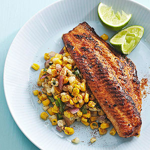 Chile-Lime Catfish with Corn Saute