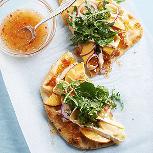 Chicken, Brie, and Nectarine Flatbread
