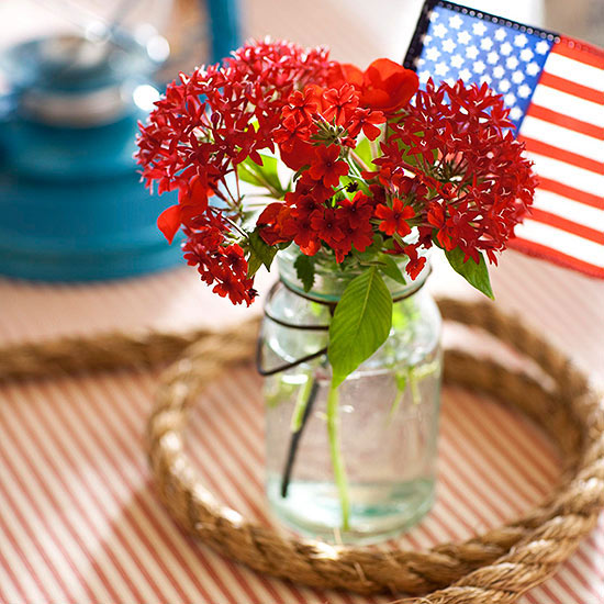 4th of July Flower Centerpiece