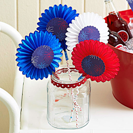 Red, White, and Blue Fan Favors