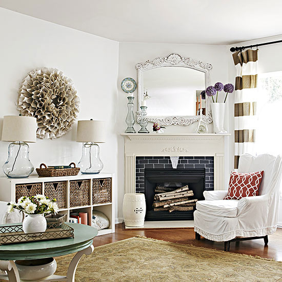 Living Room With Fireplace And Sliding Doors: Design Dilemma: Arranging Furniture Around A Corner