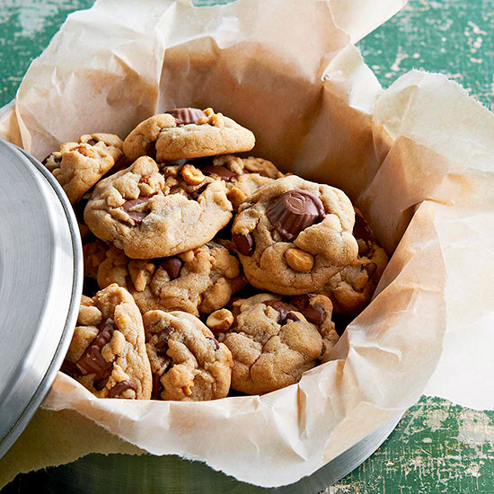 Triple Peanut And Chocolate Chip Cookies