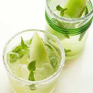 Honeydew-Basil Nojitos