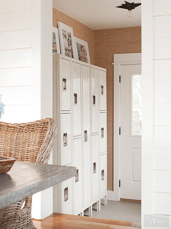 metal lockers can be fashionable as well as functional place a unit with multiple cubbies near a doorway for quick access to coats and accessories - Metal Lockers