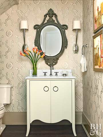 Create a Pretty Powder Room