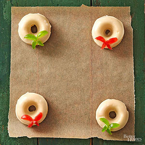 Eggnog Wreaths with Nutmeg Glaze