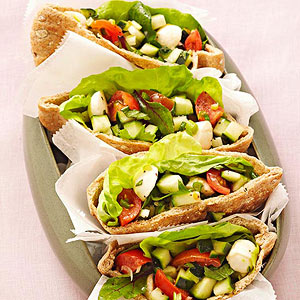Caprese Salad Pita Pockets