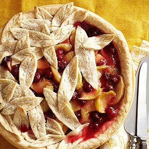 Abundant Leaf Apple-Cranberry Pie