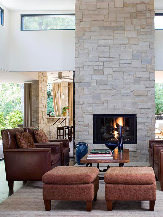 Two Sided Fireplaces: 2 sided fireplace ideas