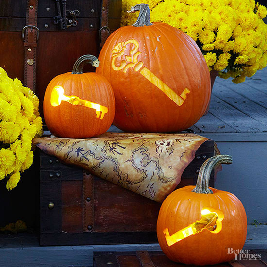 Skeleton Key Pumpkin Stencils