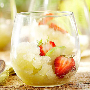 Green Apple-Chardonnay Granita