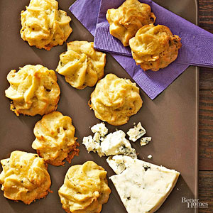 Blue Cheese and Pine Nut Puffs