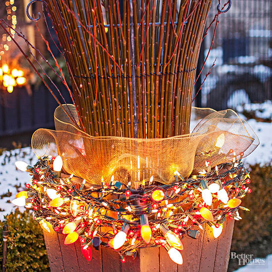 Christmas Light Planter