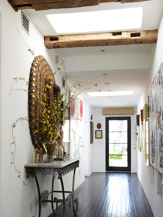 Stylish Entryway with Skylights