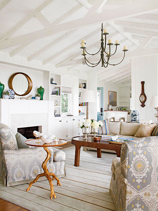 Living Room Color Scheme: Seaside Sophisticate