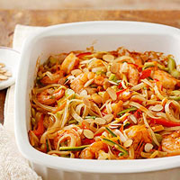 Asian Shrimp and Noodles Casserole