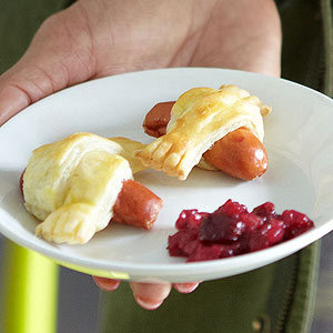 Puff Pastry-Wrapped Mini Hot Dogs