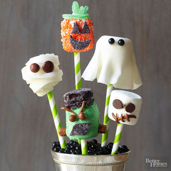 Halloween Party Marshmallow Pops