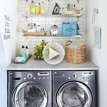 Space-Smart Laundry Room