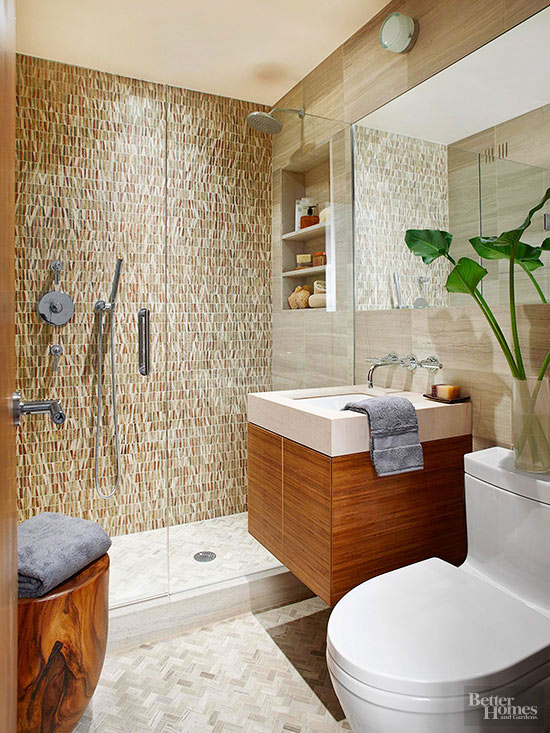 standout shower - Tile Shower Design Ideas