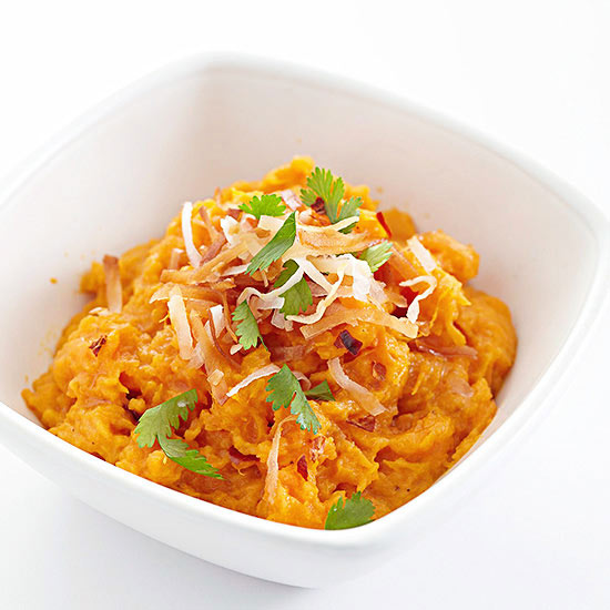 Coconut-Curry Mashed Sweet Potatoes