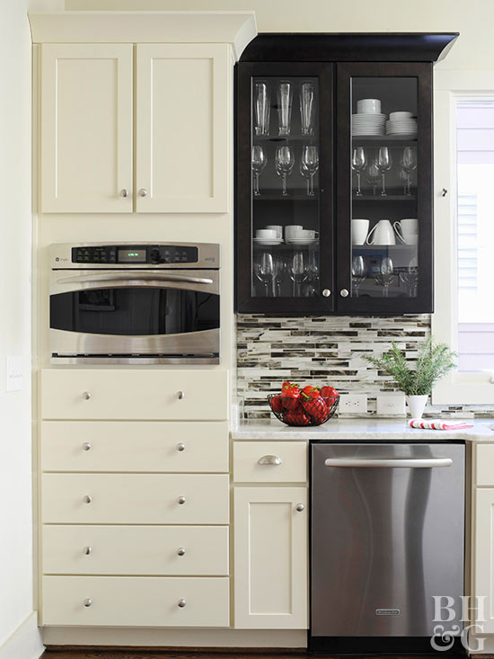 low-cost cabinet makeovers: save moneypainting your old, ugly