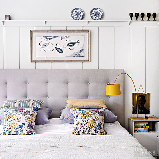 Headboard + Wainscotting