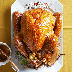 Spiced Turkey with Cherry-Pear Glaze
