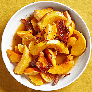 Maple-Glazed Squash with Pancetta