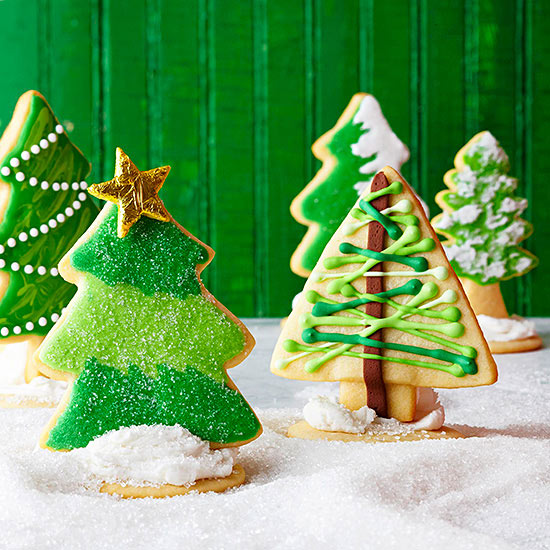 3-D Sugar Cookie Trees