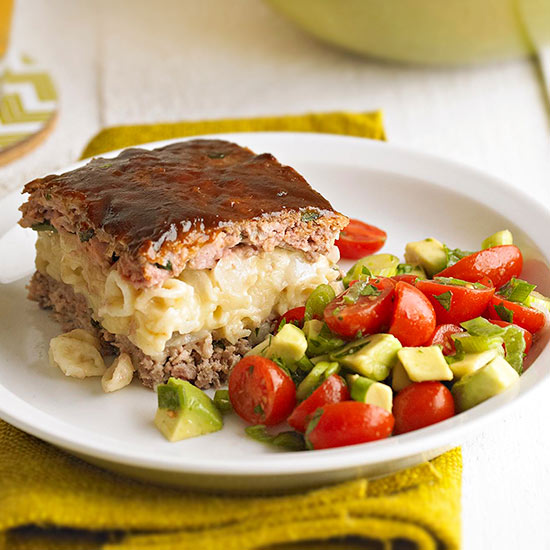 Macaroni and cheese meat loaf for Better homes and gardens mac and cheese