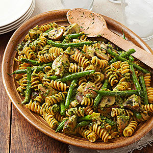 Rotini with Walnut-Basil Pesto