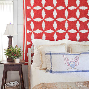 Decorating with Vintage Textiles