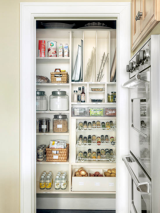 10 Small Pantry Ideas For An Organized Space Savvy Kitchen: Walk-In Pantry Cabinet Ideas
